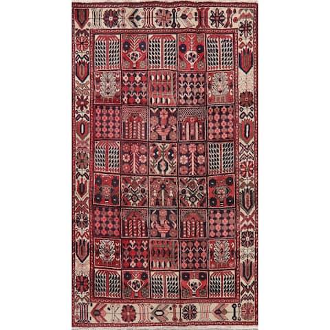 "Garden Design Bakhtiari Persian Area Rug Hand-Knotted Vintage Carpet - 4'11"" x 8'8"""