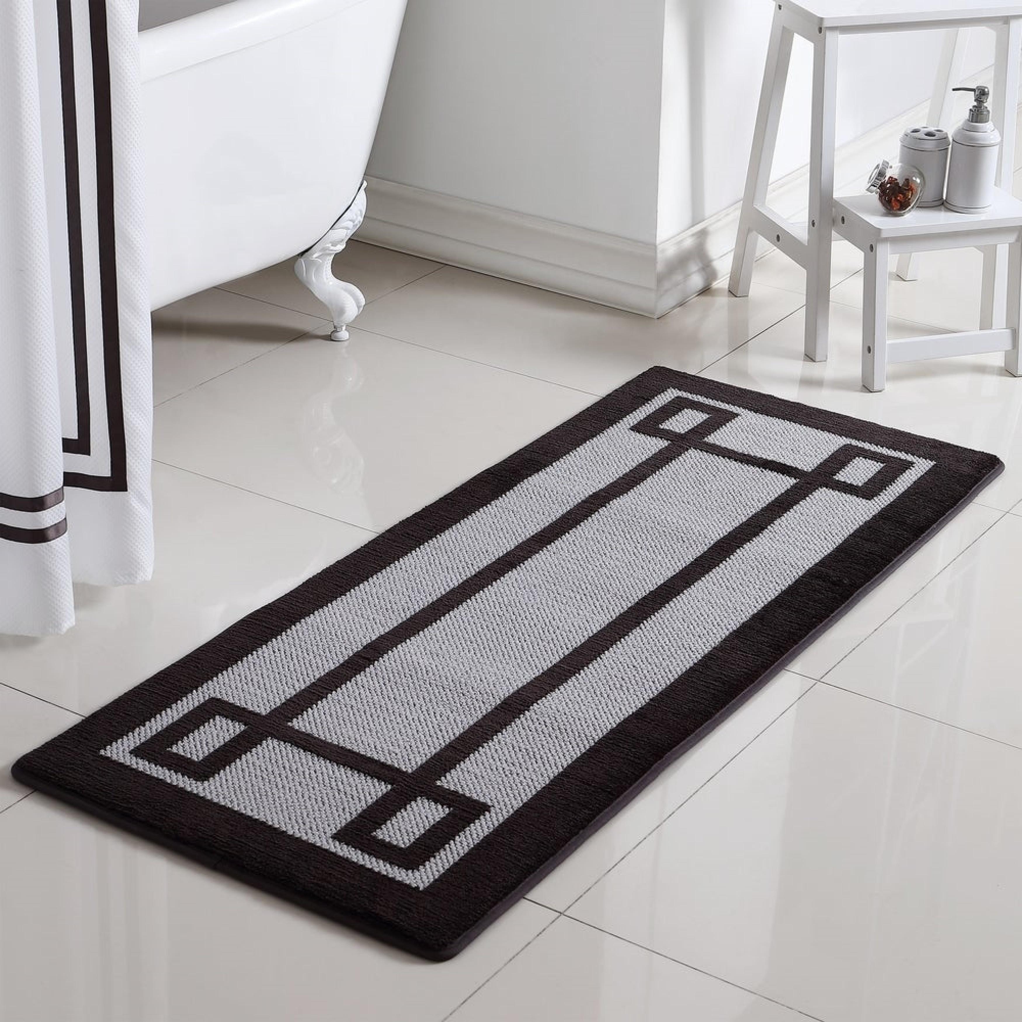 Greek Key Oversized 2 Tone Memory Foam Bath Rug Runner On Sale Overstock 30574781
