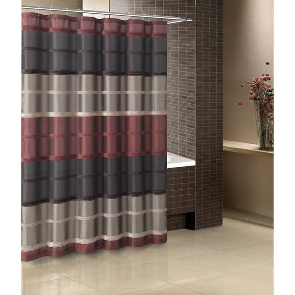 Shop Black Friday Deals On Vcny Home Bombay Stripe Shower Curtain Overstock 30575046