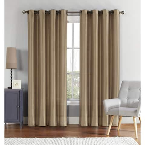 "VCNY Home Brenton Faux Silk Lined & Interlined Blackout Panel - 55"" x 84"" - 55"" x 84"""
