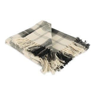 """Link to DII Farmhouse Woven Throw, 50x60"""" with 3"""" Fringe, Black, 1 Piece Similar Items in Blankets & Throws"""