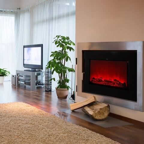 Ainfox 1500W Electric Fireplace Stove with 3D Flame