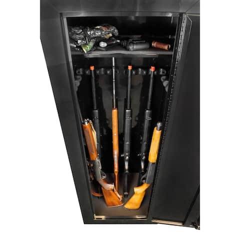 American Furniture Classics Model 9518DS Durable Steel 18 Gun Metal Security Cabinet