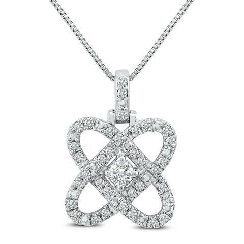 1/4 Carat TW Diamond Infinity Love Pendant in .925 Sterling Silver