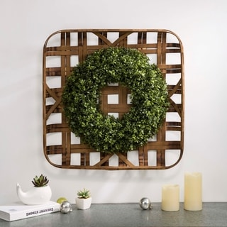 "Link to Glitzhome 18""D Artificial Boxwood Wreath Set Similar Items in Decorative Accessories"