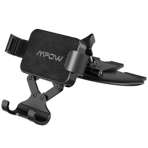 MPOW Gravity Car Phone Mount Holder Auto-clamping and Release Car mount for CD Slot One-handed Operation Car Mount