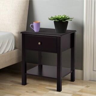 Porch & Den Moda Espresso Finish 1-drawer Nightstand