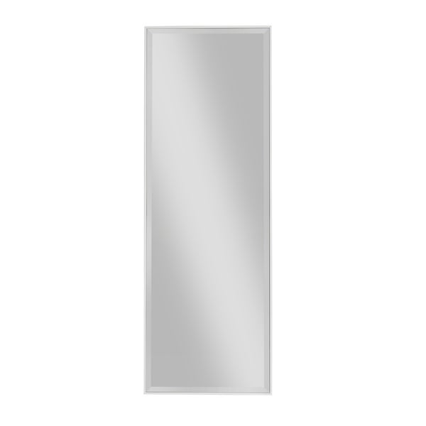 Stylish Rectangular Polystyrene Framed Floor Mirror, White