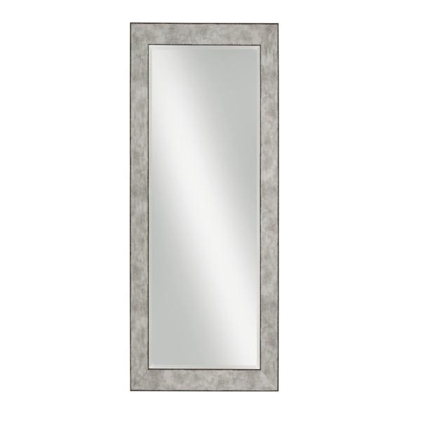 Stylish Rectangular Polystyrene Framed Leaner Mirror, Rusted Metal