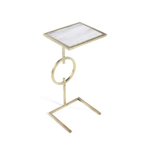 Baring Gold Iron Base End Table