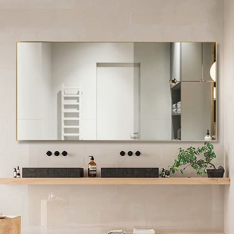 Modern Rectangular Accent Full Length Vanity Mirror Hanging or Leaning - 47''x22''