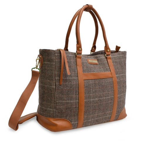 Adrienne Vittadini Wool Weekender Collection Large Laptop Tote