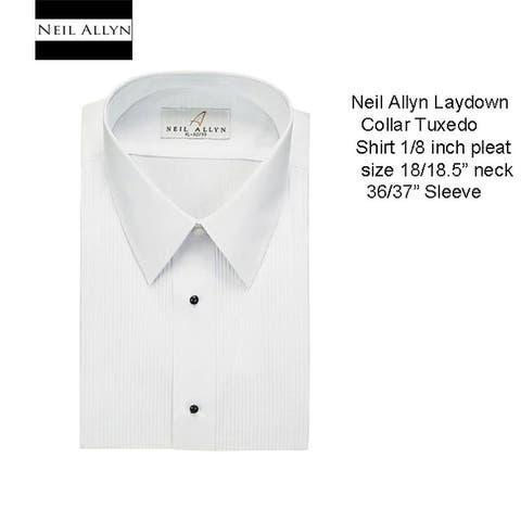 Men's Tuxedo Shirt Laydown Collar 18.18.5 Neck, 36/37 Sleeve