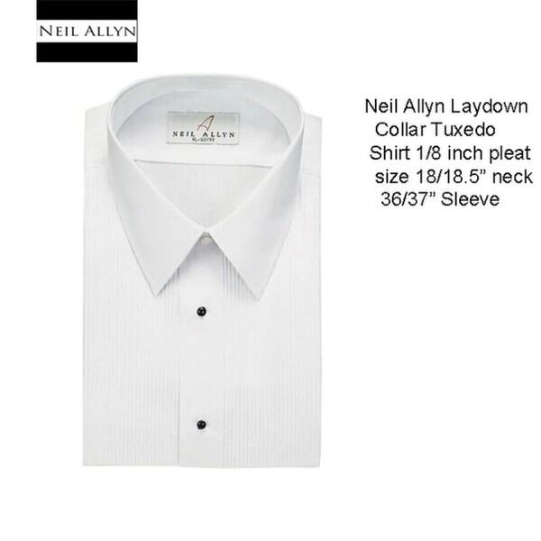 Mens Tuxedo Shirt Laydown Collar 18.18.5 Neck 36/37 Sleeve