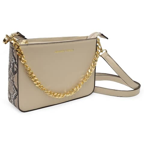 Adrienne Vittadini The Simone collection Imitation Snake Trim chain crossbody