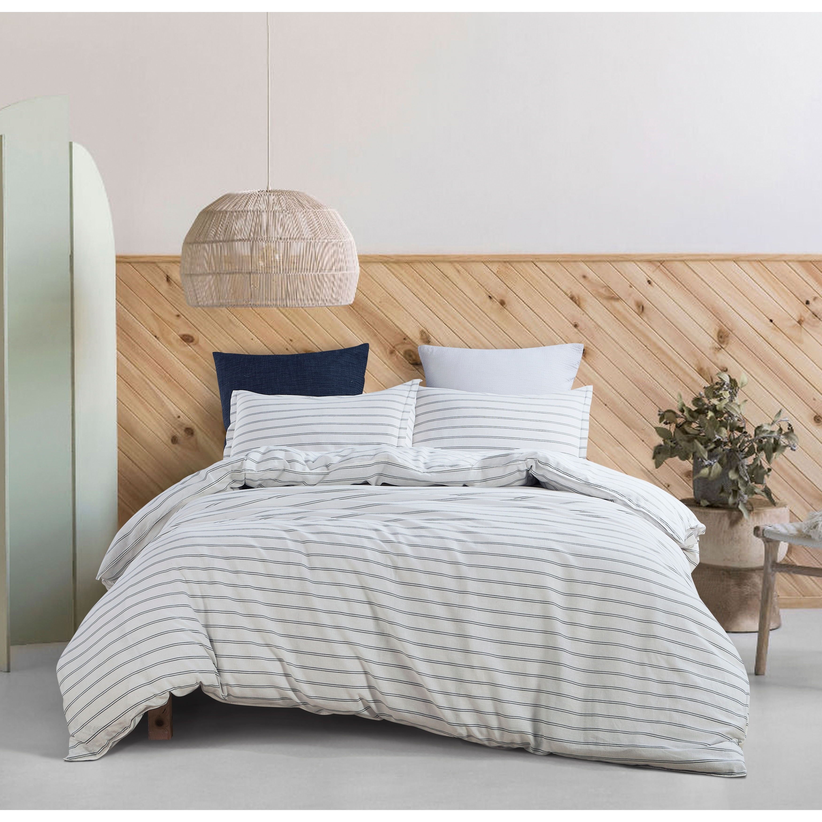 Linen Cotton Stripe Duvet Set