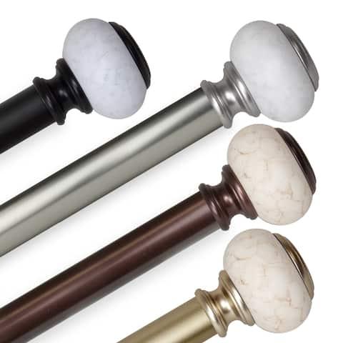 InStyleDesign Kennedy 1 inch Diameter Adjustable Curtain Rod