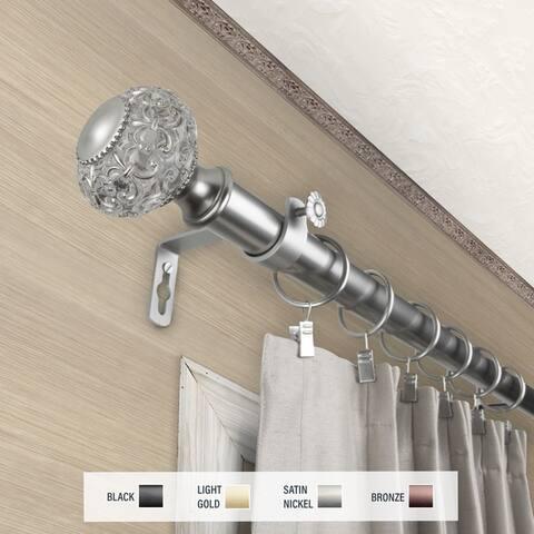 InStyleDesign Sadie 1 inch Diameter Adjustable Curtain Rod