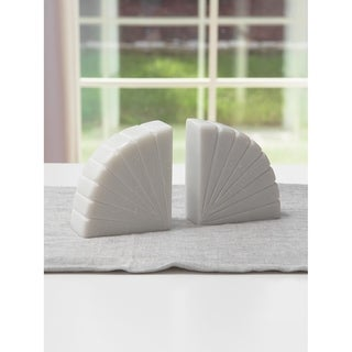 Aurora Home Semicircle Marble Bookends - Set of 2