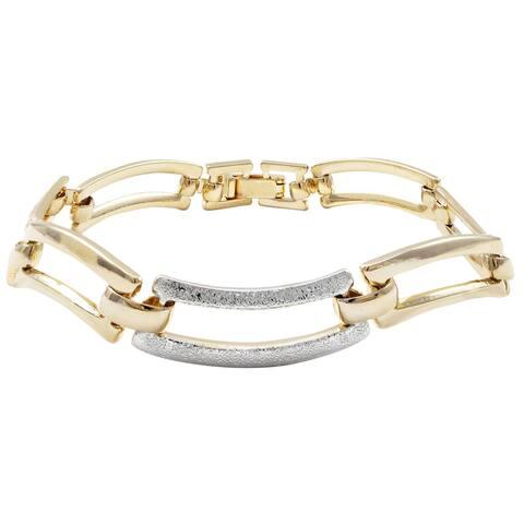 """Luxiro Tri-color Wave Women's Bracelet, 7"""""""