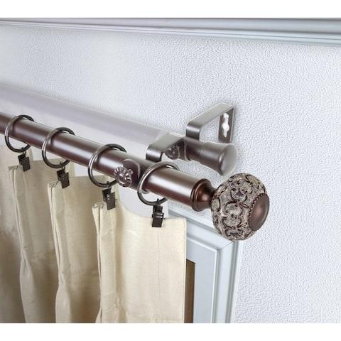InStyleDesign Sadie 1 inch Diameter Adjustable Double Curtain Rod