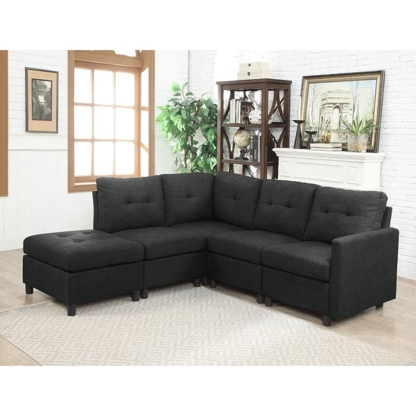 5 Piece Modular Sectional With Ottoman