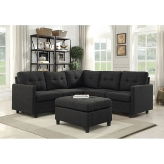 6 Piece Symmetrical Modular Sectional with Ottoman