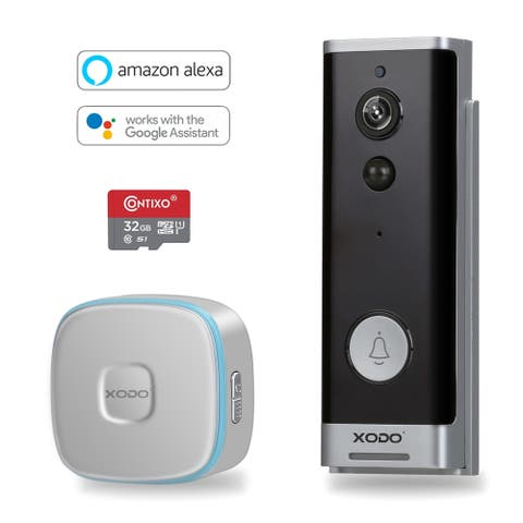 XODO VD1 Smart Doorbell Wireless WiFi Night Vision App View 2-way Talk HD Security DoorBell Chime Remote Home Monitoring - Black
