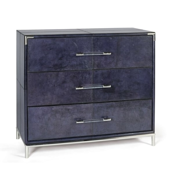 Vlachavas Blue 3-drawer Dresser