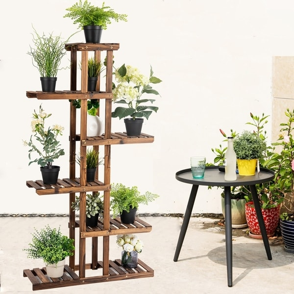 Kaivu 6-tier Wooden Potted Plant Display Shelves by Havenside Home. Opens flyout.