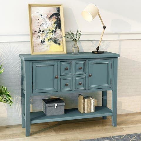Cambridge Series Buffet Sideboard Console Table with Bottom Shelf