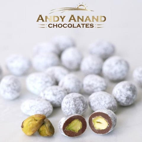 Andy Anand Pistachios covered in crunchy butter toffee Gift Box 1 lbs
