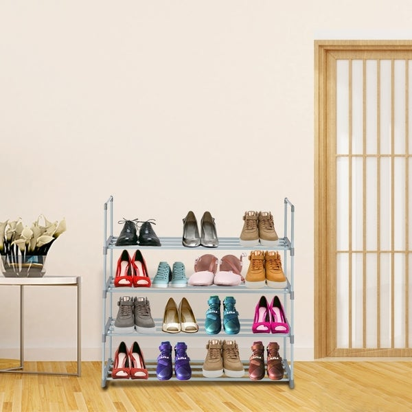 4 Tiers Shoe Rack Tower Shelf Storage Organizer