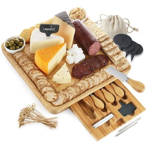 SleekDine Cheese Board with Cutlery Set