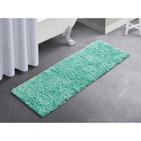 VCNY Home Solid Paper Shag Rug Runner