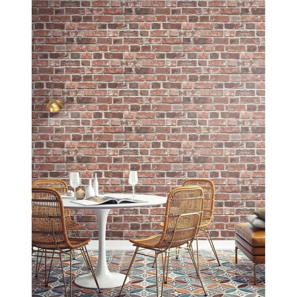 Shop Transform Red Brick Peel And Stick Wallpaper Overstock 30584871