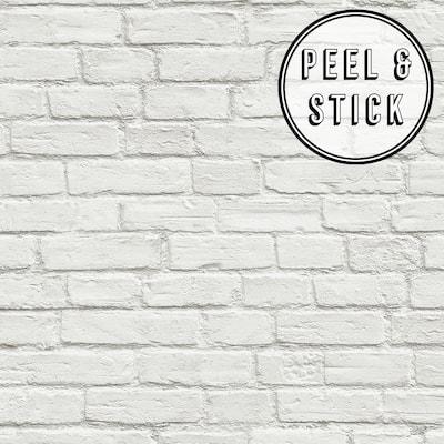 Transform White Brick Peel and Stick Wallpaper
