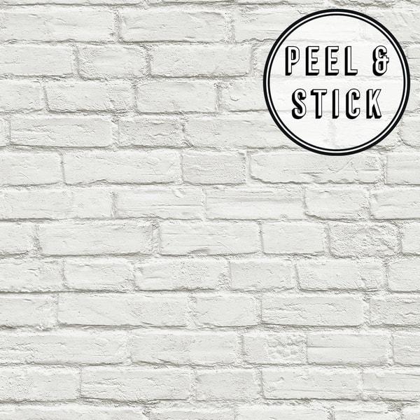 Transform White Brick Peel and Stick Wallpaper 7de120b8 bb37 4e48 b5d2 c3113edf5112 600