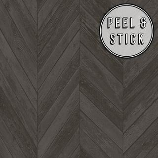 Link to Transform Dark Grey Herringbone Wood Peel and Stick Wallpaper Similar Items in Wall Coverings