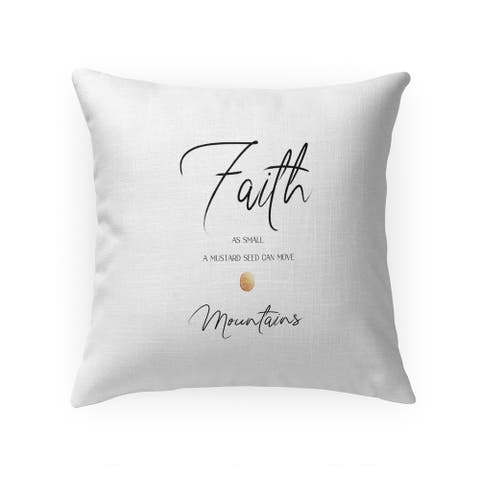 FAITH CAN MOVE MOUNTAINS Throw Pillow by Terri Ellis
