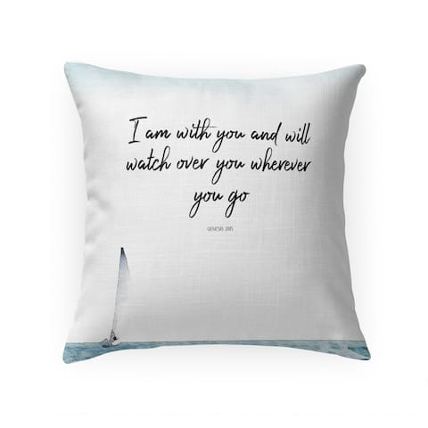 I AM with YOU Throw Pillow by Terri Ellis