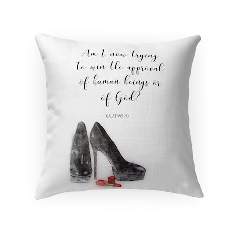 TRYING to WIN Throw Pillow by Terri Ellis
