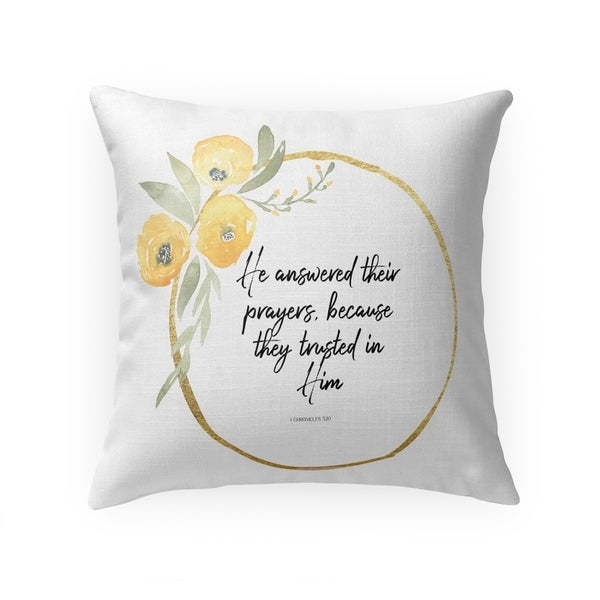 HE ANSWERED THEIR PRAYERS Throw Pillow By Terri Ellis