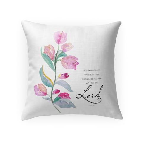BE STRONG Throw Pillow by Terri Ellis