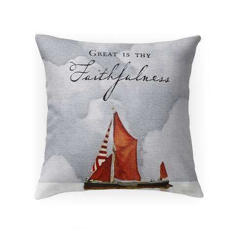 GREAT IS THY FAITHFULNESS Throw Pillow by Terri Ellis