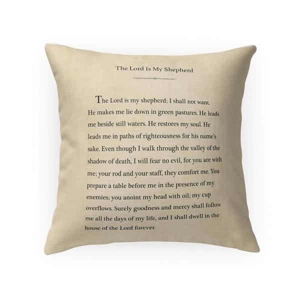 THE LORD IS MY SHEPHERD Throw Pillow By Terri Ellis
