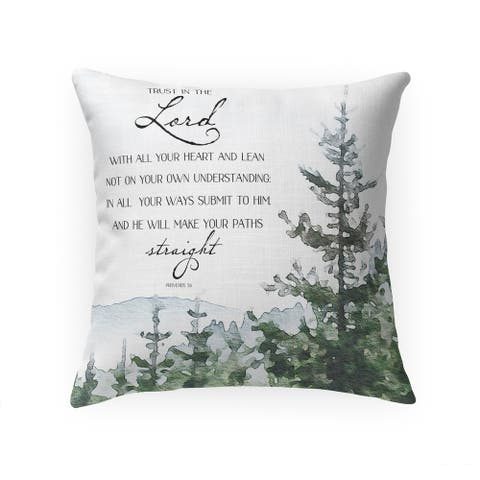 TRUST in THE LORD Throw Pillow by Terri Ellis