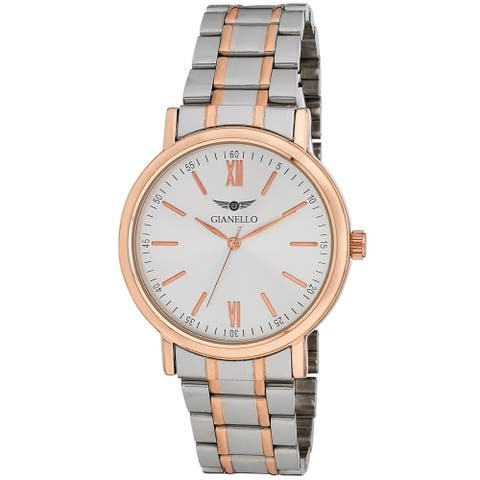 Gianello Mens Roman Numeral Link Watch