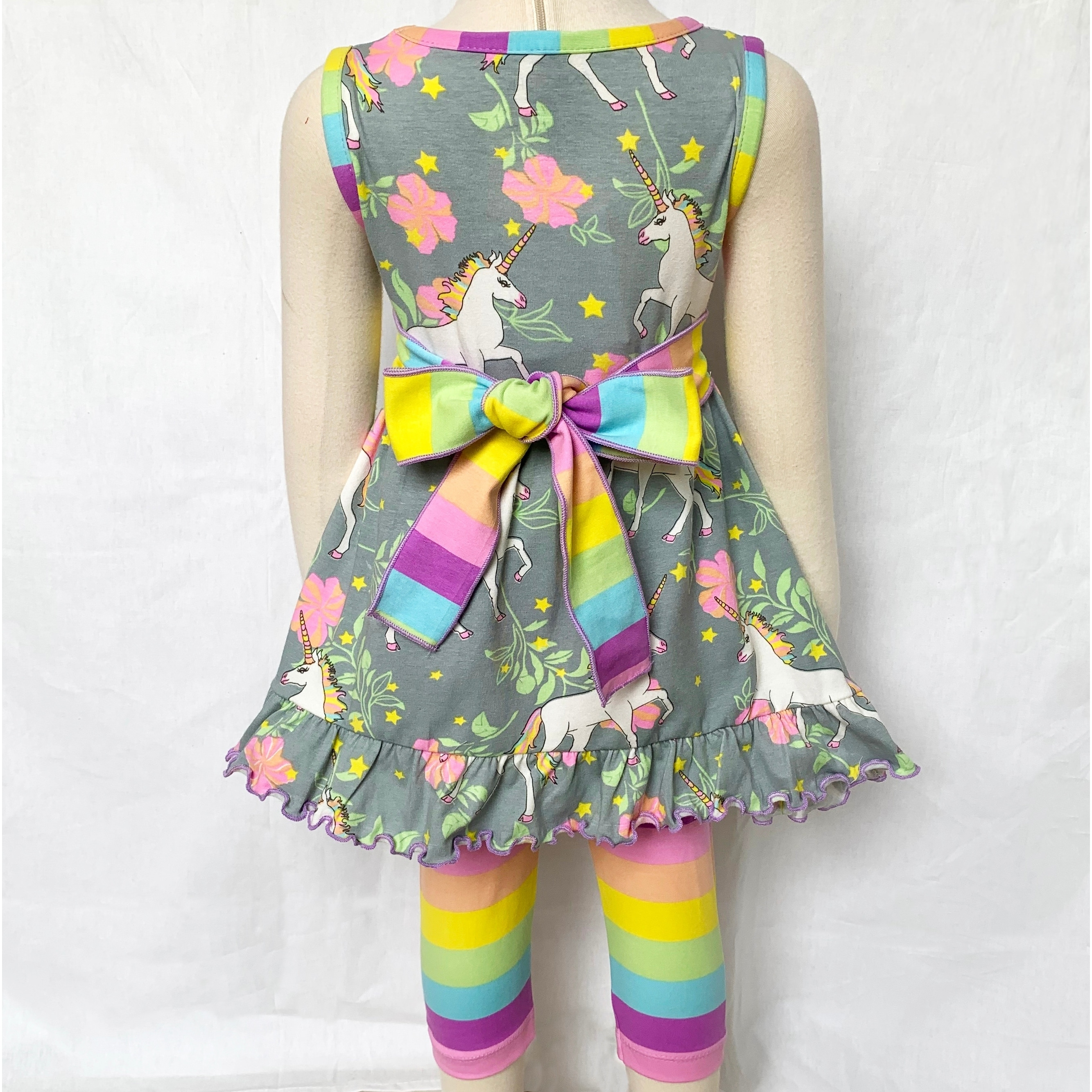 Little//Big Girls Summer Breathable Unicorn Party//Play-Wear Casual Dress