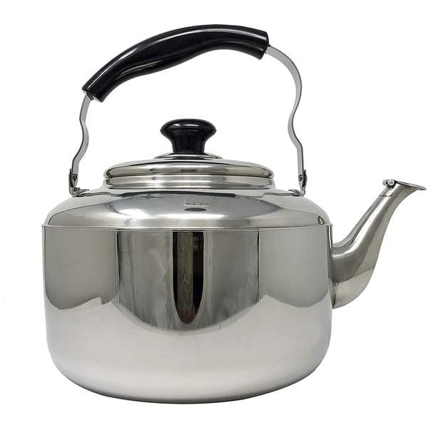 Whistling Tea Kettle with Cool Touch Handle, Stainless Steel Teapot for ALL Stovetops - 5 Litre / 1.3 Gallon Teapot